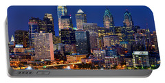 Philadelphia Skyline At Night Portable Battery Charger