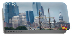 Philadelphia Skyline El Galeon Andalucia Portable Battery Charger by Terry DeLuco