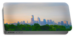 Philadelphia Skyline From West Lawn Of Fairmount Park Portable Battery Charger