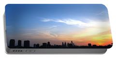 Philadelphia Skyline Low Horizon Sunset Portable Battery Charger by Matt Harang