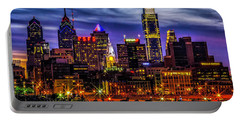 Portable Battery Charger featuring the photograph Philadelphia Skyline by Nick Zelinsky