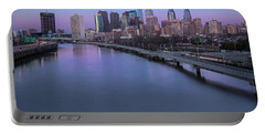 Philadelphia Skyline Pastels Portable Battery Charger by Susan Candelario