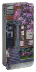 Philadelphia Street In Spring Portable Battery Charger