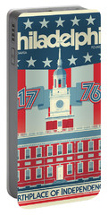 Philadelphia Vintage Travel Poster Portable Battery Charger
