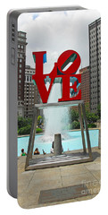 Philadelphia's Love Park Portable Battery Charger by Cindy Manero