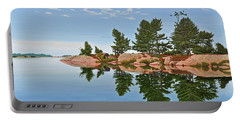 Portable Battery Charger featuring the painting Philip Edward Island by Kenneth M Kirsch