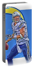 Philip Rivers San Diego Chargers Oil Art Portable Battery Charger