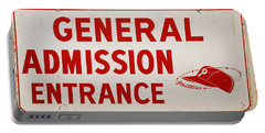 Phillies General Admission Sign From Connie Mack Stadium Portable Battery Charger