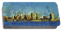 Philly Skyline Portable Battery Charger by Trish Tritz