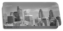 Philly Skyscrapers Black And White Portable Battery Charger