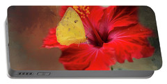 Phoebis Philea On A Hibiscus Portable Battery Charger