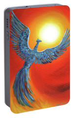 Phoenix Rising Portable Battery Charger by Laura Iverson