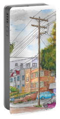 Phole Pole In Hawthorn And Fuller, Hollywood, California Portable Battery Charger by Carlos G Groppa