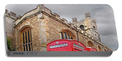 Portable Battery Charger featuring the photograph Phone Home - Gt St Marys Church Cambridge by Gill Billington
