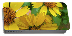Yellow Wildflowers Photograph II Portable Battery Charger