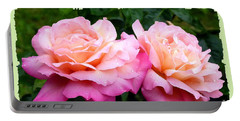 Portable Battery Charger featuring the photograph Photogenic Peace Roses by Will Borden
