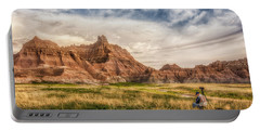 Photographer Waiting For The Badlands Light Portable Battery Charger