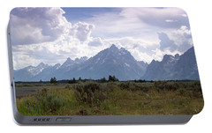 Portable Battery Charger featuring the photograph Photographing The Tetons by Dawn Romine