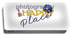 Photography Is My Happy Place Portable Battery Charger