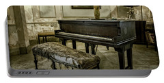 Portable Battery Charger featuring the photograph Piano At Josie's House by Joan Carroll