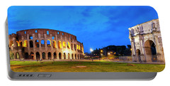 Portable Battery Charger featuring the photograph Piazza Del Colosseo by Fabrizio Troiani