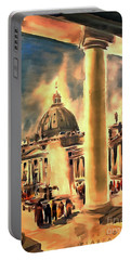 Piazza San Pietro In Roma Italy Portable Battery Charger