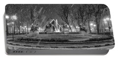 Piazza Solferino In Winter-1 Portable Battery Charger by Sonny Marcyan