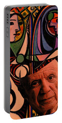 Picaso Study In Orange Portable Battery Charger