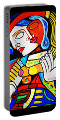 Picasso By Nora Turkish Man Portable Battery Charger by Nora Shepley