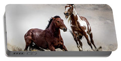 Picasso - Wild Stallion Battle Portable Battery Charger by Nadja Rider