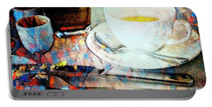 Portable Battery Charger featuring the photograph Picasso's Coffee by Craig J Satterlee