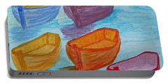 Portable Battery Charger featuring the painting Pick Your Boat by Barbara McDevitt