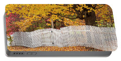 Picket Fence Autumn Portable Battery Charger