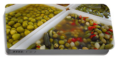 Portable Battery Charger featuring the photograph Pickled Olives And Others by Tina M Wenger