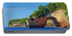 Portable Battery Charger featuring the photograph Pictured Rocks by Rodney Campbell