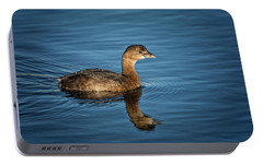 Portable Battery Charger featuring the photograph Pied Billed Grebe by Randy Hall