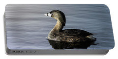 Portable Battery Charger featuring the photograph Pied-billed Grebe by Robert Frederick