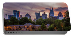 Portable Battery Charger featuring the photograph Piedmont Park Midtown Atlanta Sunset Art by Reid Callaway