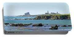 Portable Battery Charger featuring the photograph Piedras Blancas Lighthouse by Art Block Collections