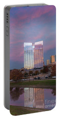 Pier 1 Building And The Trinity River, Downtown Ft. Worth Texas U S A Portable Battery Charger
