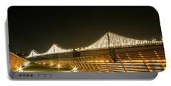 Pier 14 And Bay Bridge Lights Portable Battery Charger