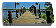 Pier At Fort Wilderness Pm Portable Battery Charger