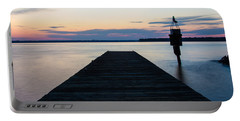 Pier At Sunset 16x20 Portable Battery Charger