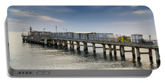 Pier At Sunset Portable Battery Charger