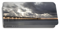 Pier In Misty Waters Portable Battery Charger