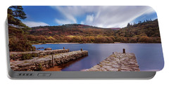 Portable Battery Charger featuring the photograph Pier On The Upper Lake In Glendalough - Wicklow, Ireland by Barry O Carroll