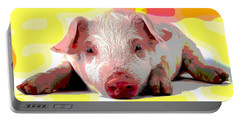 Pig In A Poke Portable Battery Charger by Charles Shoup