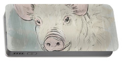 Pig Portrait-farm Animals Portable Battery Charger