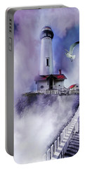 Pigeon Lighthouse With Fog Portable Battery Charger
