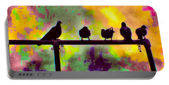 Pigeons In Abstract 2 Portable Battery Charger